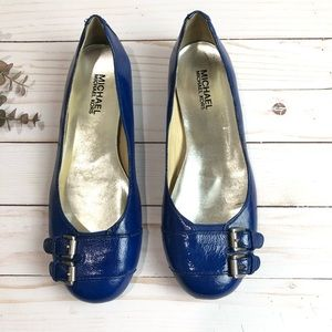 Michael Kors Blue Flats Size 6.5